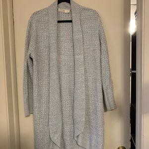 Faded Glory Long Gray Knit Cardigan Size XL